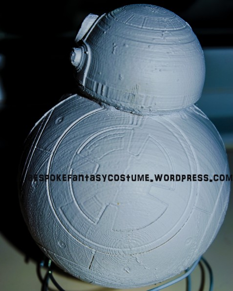 Star Wars BB8 model. 3D printed by Bespoke Fantasy Costumes. Photography by Rose-Sky Journey Pieces. Copyright 2016.